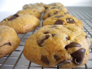 Peanut Butter Banana Chocolate Chip Cookies