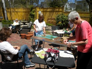 Working hard in the gorgeous sunshine!